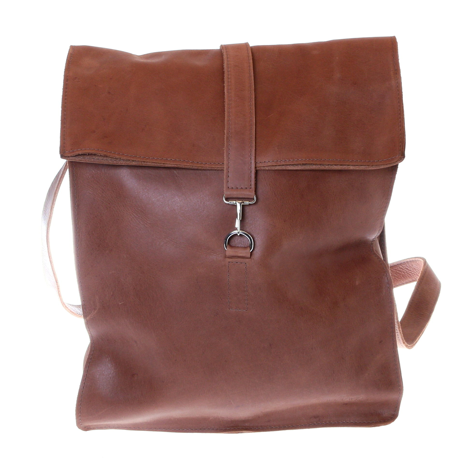backpack leather brown
