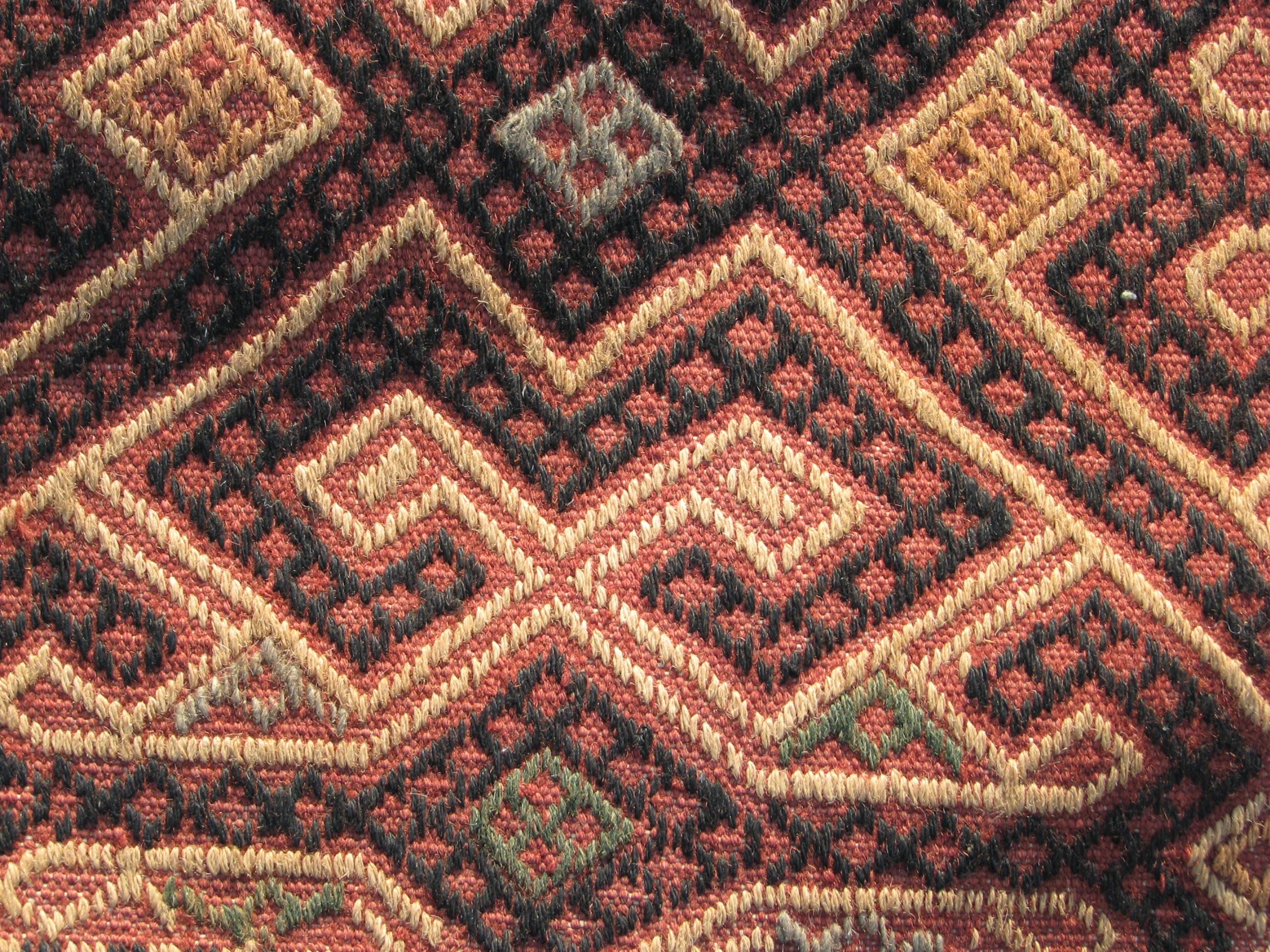 brick and yellow suzani - detail - Gundara