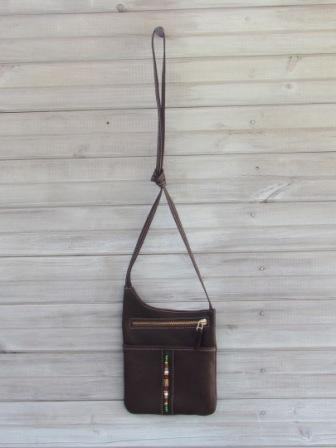 Brown Crossbody Passport Bag