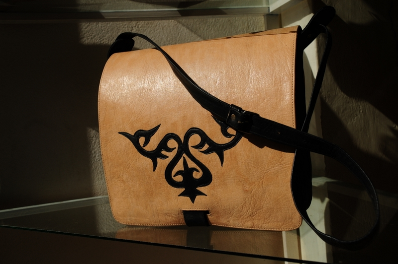 Gundara - Anwarjan - shoulder bag for men - Kyrgyz nomad pattern