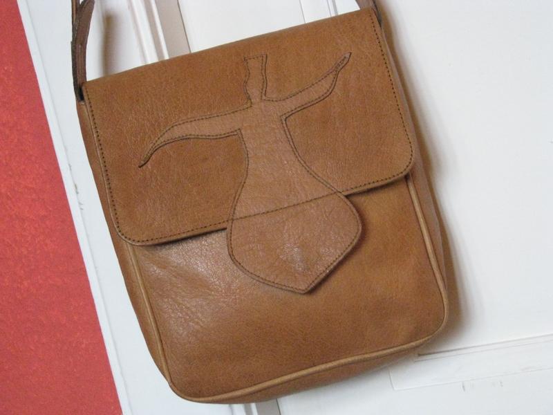 Gundara - Sufi - handmade leather bag - genuine leather - from Afghanistan