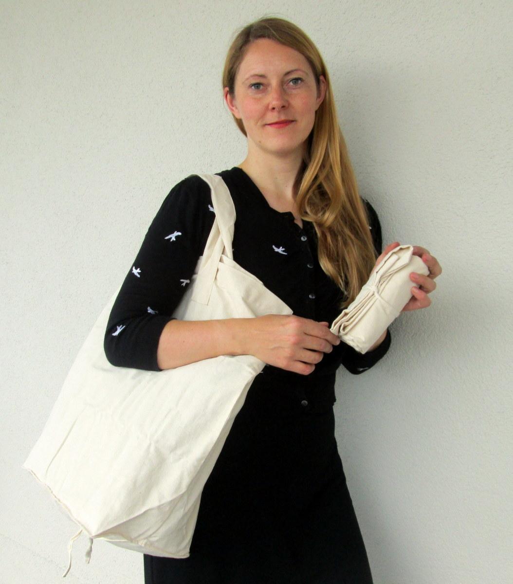 Einkaufstasche - Bio-Baumwolle - aus Marakesch - Al-Kawtar für behinderte Frauen