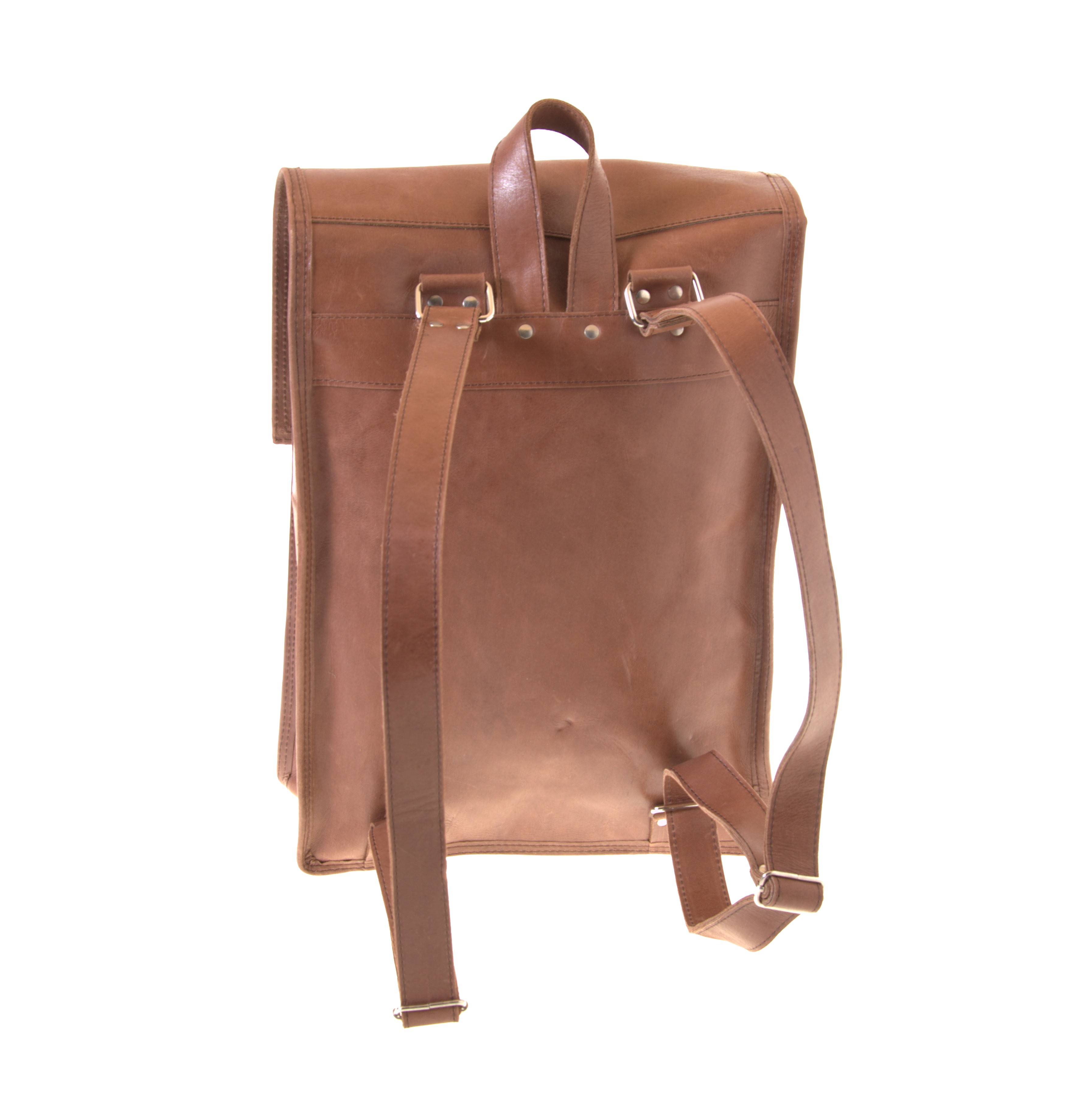 Geniune cow leather backpack from Ethiopia