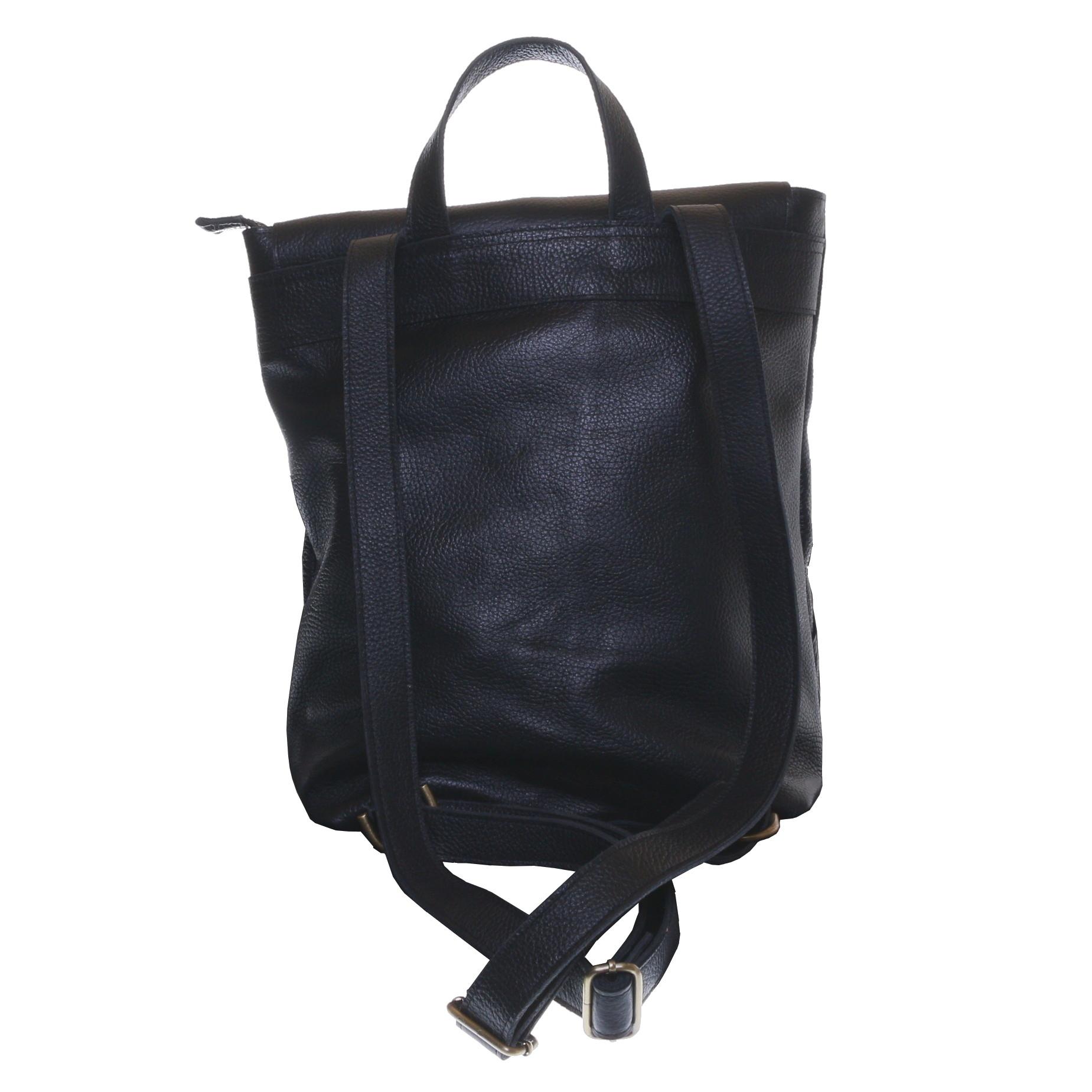 Gundara - laptop backpack - genuine cow leather from Ethiopia - handmade