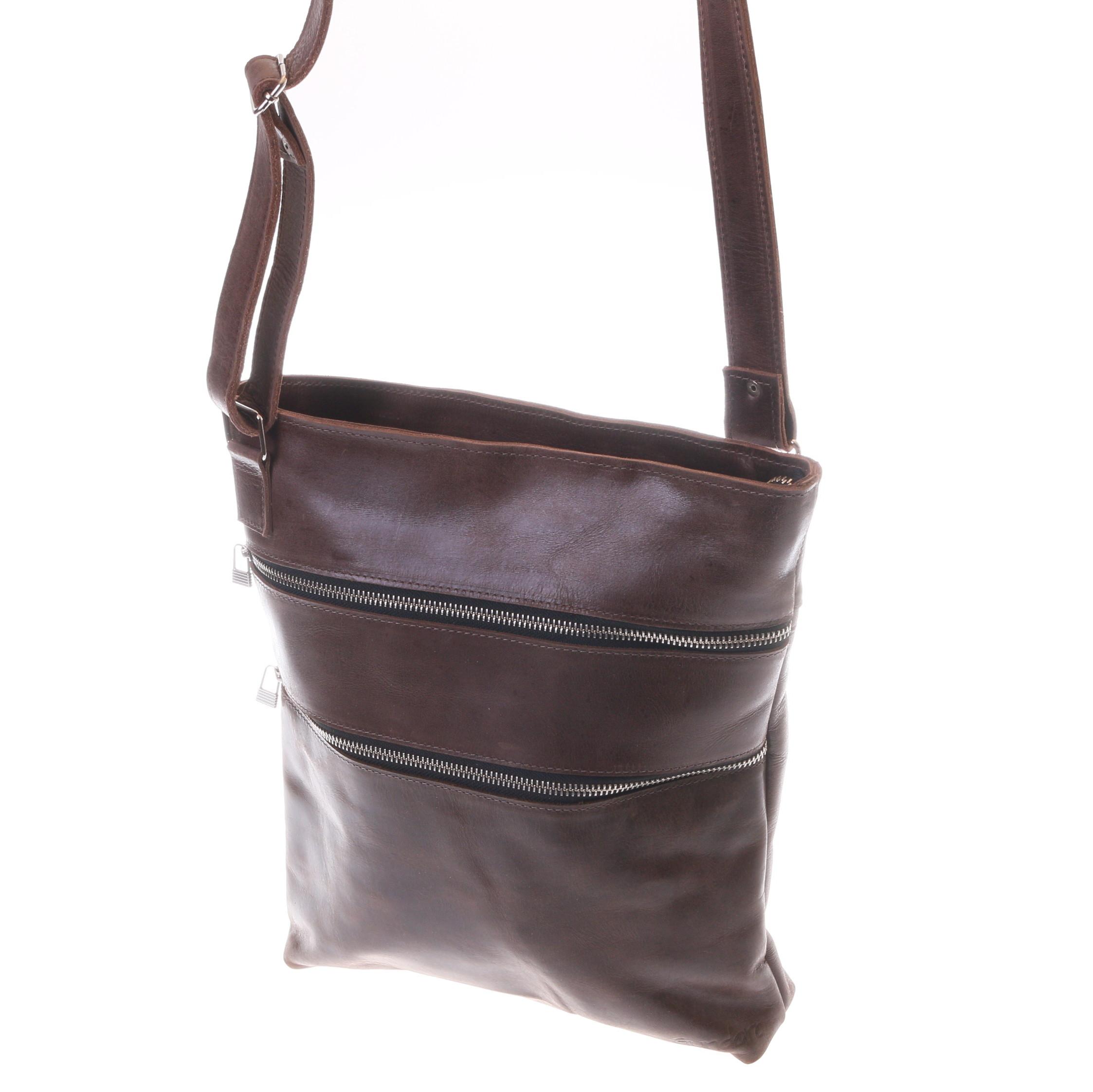 Gundara - fair crossbody leather bag - genuine cow leather from Ethiopia - handmade & fair