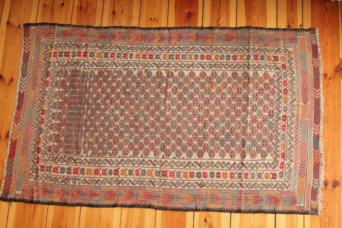 Nice light colors Herai Baluch rug