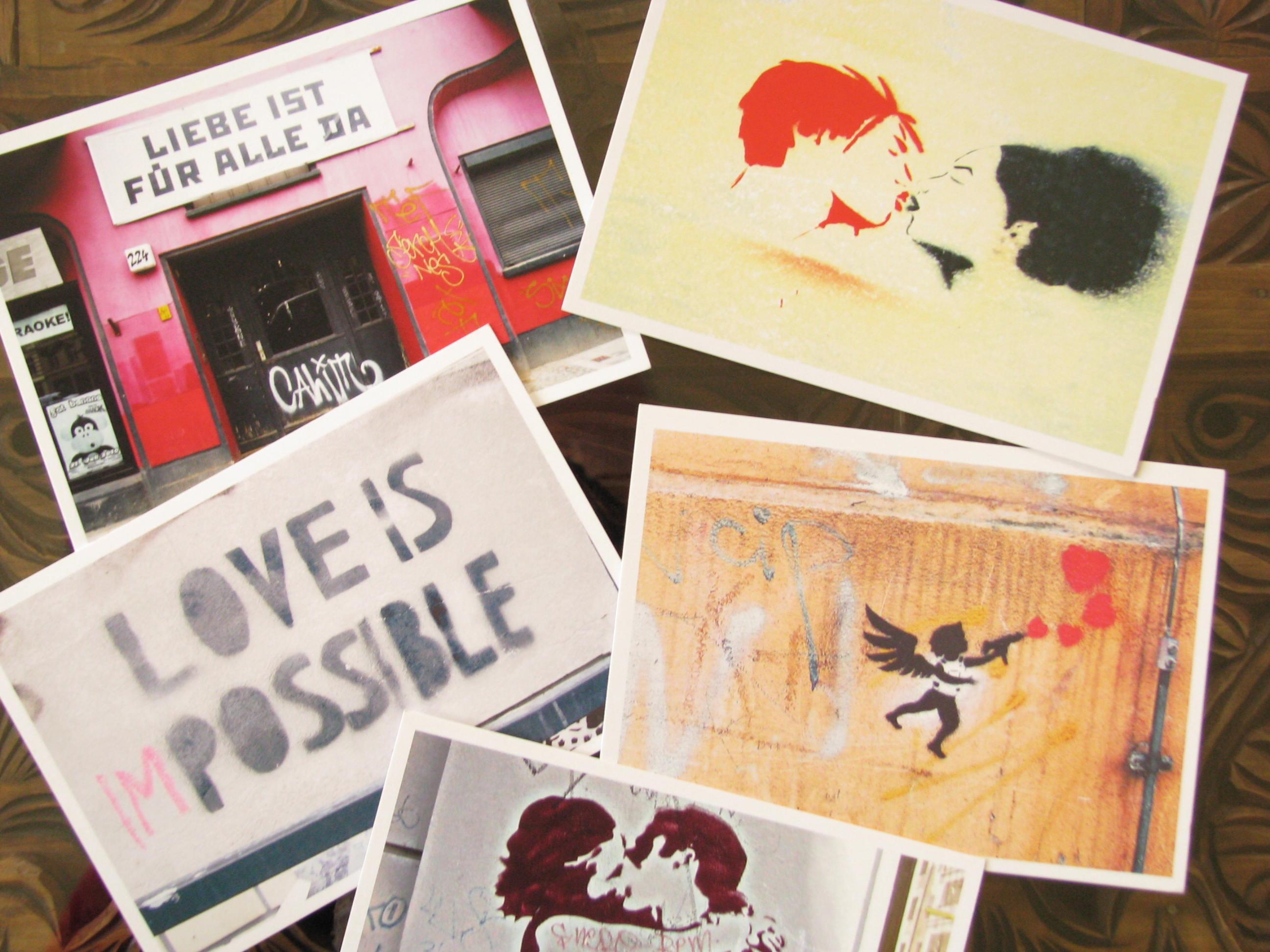Annblick - art postcards - graffiti - street art - Berlin art