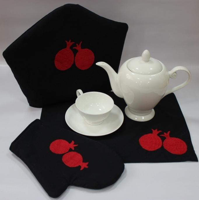 Teekannenwärmer - handbestickt - aus tadschikischer Frauenkooperative - Gundara