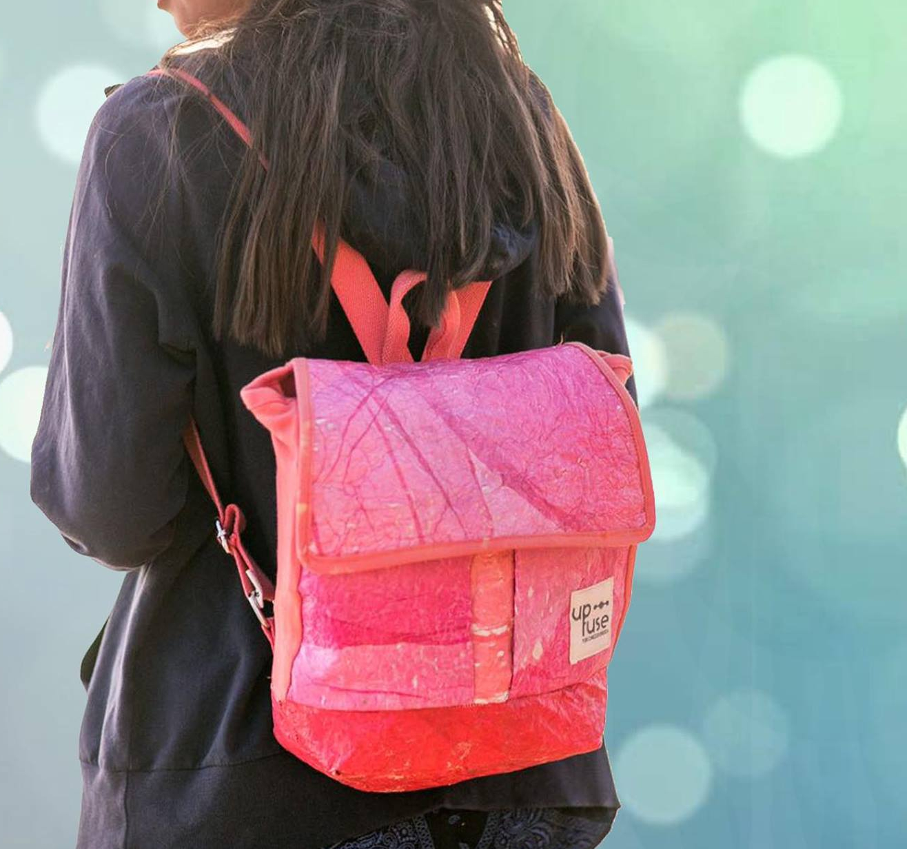 Up-fuse - mini backpack - upcycling - handmade & fair from Cairo - Gundara