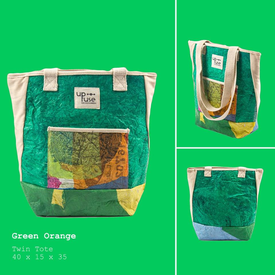 Up-fuse - tote - upcycling - fair & funky - social startup from Cairo, Egypt - Gundara