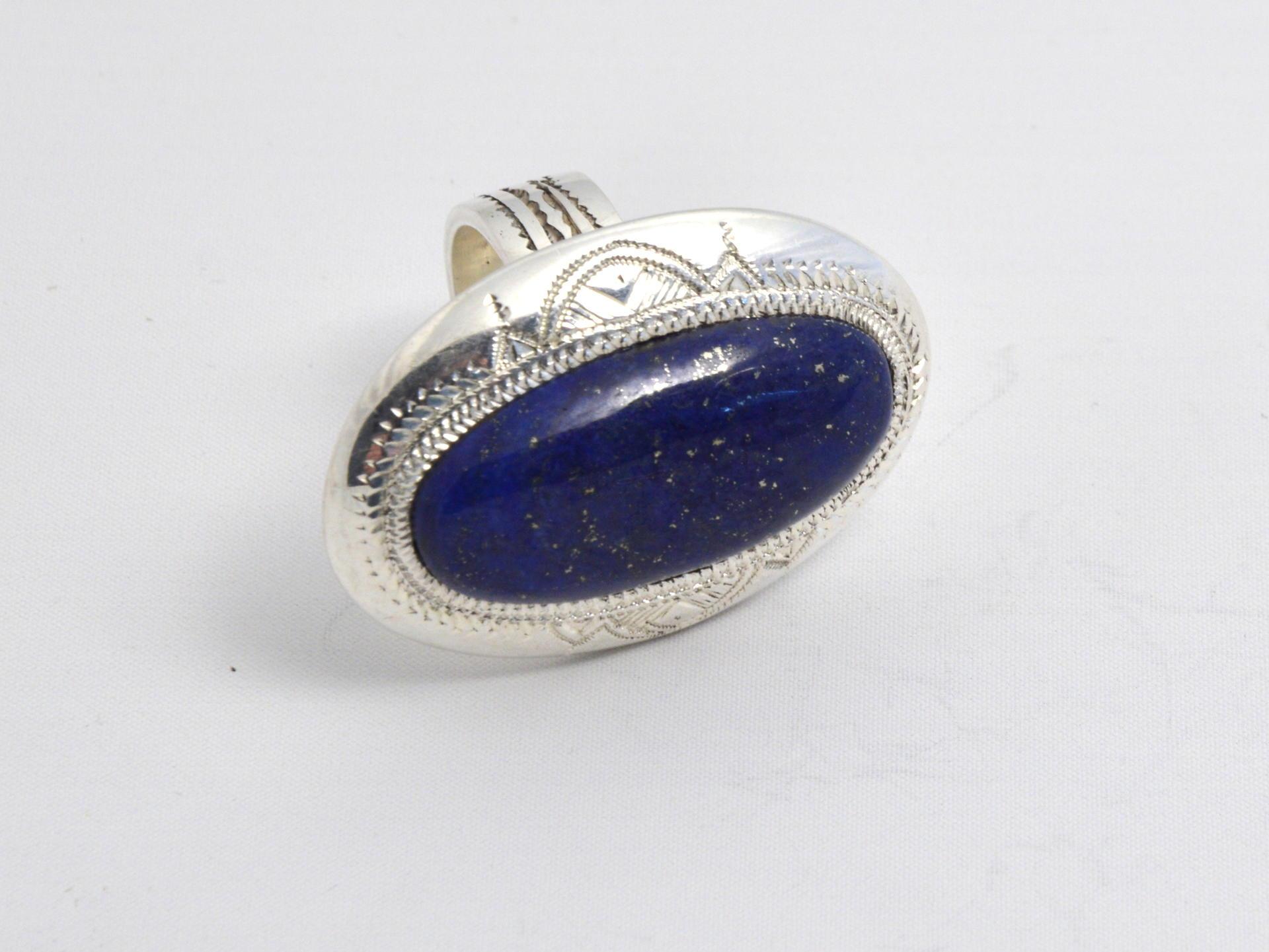 bague argent lapis lazuli tehnat gundara. Black Bedroom Furniture Sets. Home Design Ideas