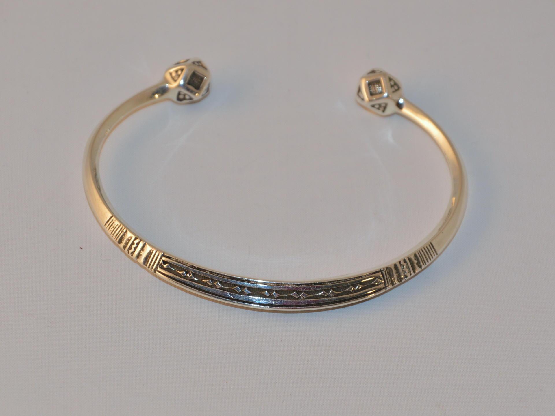Bijoux Argent Noircis : Bracelet touareg en argent osmane naguinagui gundara