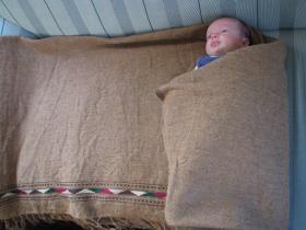 Gundara - Patu - Winterfreund - Wolldecke - Plaid - Babydecke - aus 100% Wolle