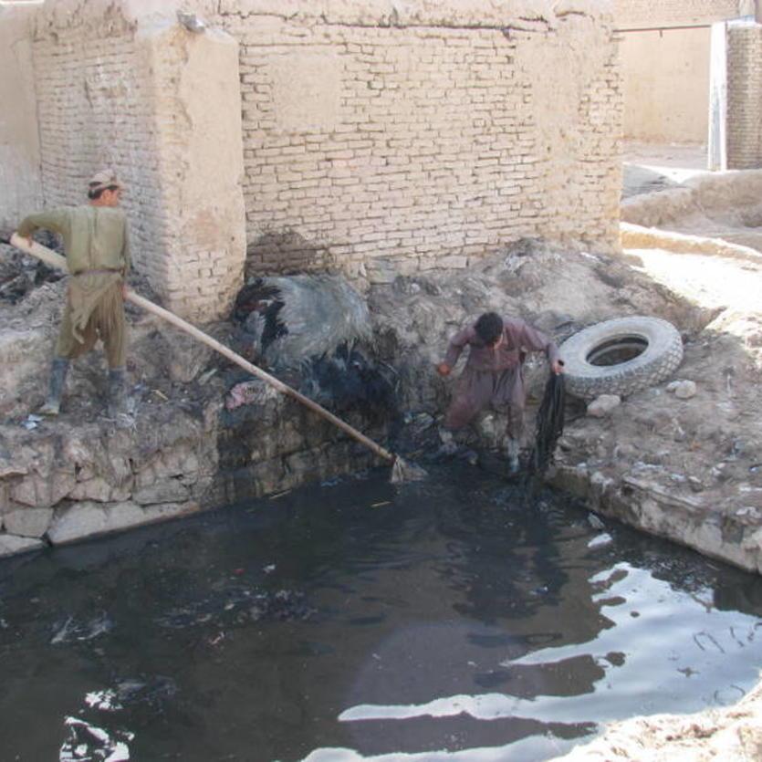 Natürlicher Leder-Gerbung in Nord-Afghanistan
