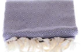 Lila pestemal with elmas patterns