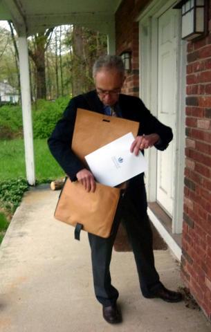 Gundara - happy client - shoulder bag from Afghanistan