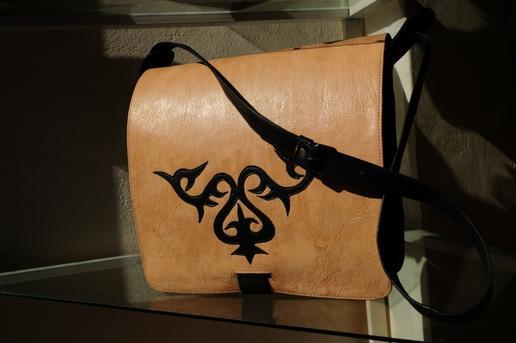 Gundara - Anwarjan - shoulder bag for men - Kyrgyz nomad pattern