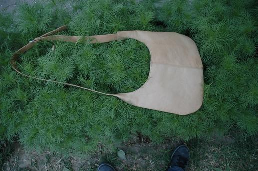 natural leather shoulder bag - genuine leather - made in Afghanistan