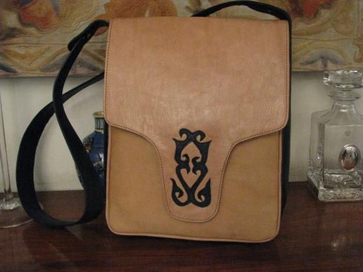 Gundara - Kyrgyz Medium - shoulder bag - genuine leather - from Afghanistan