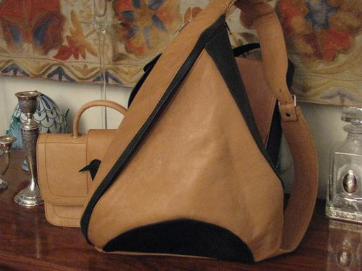 Gundara - Tripack - sporty leather backpack - real leather from Afghanistan
