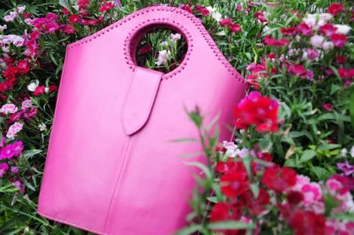 Gundara - The Pink Shopper - Sac de courses en cuir rose
