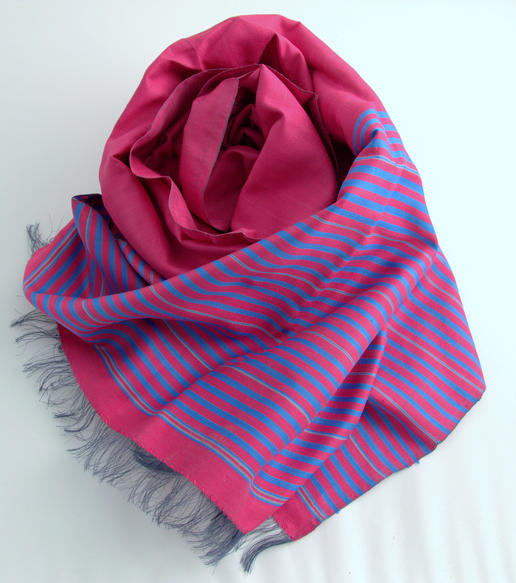 pure silk - handmade scarf - from women's cooperative in Afghanistan