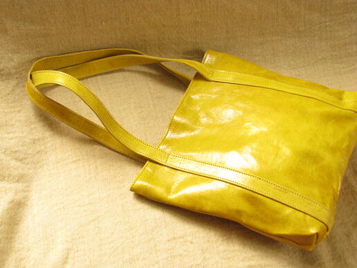 curry leather shopper - made in burkina faso