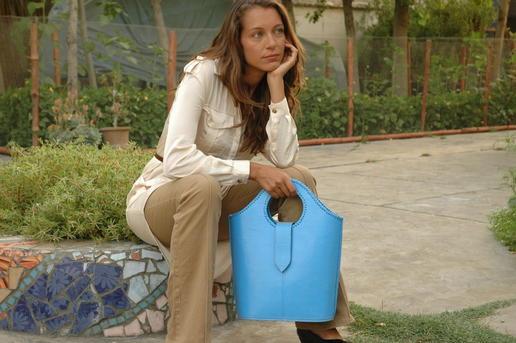 sky blue handbag - Gundara