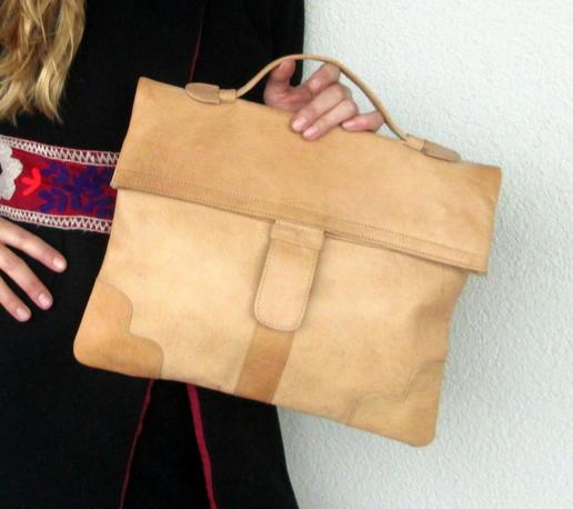 a plain leather bag