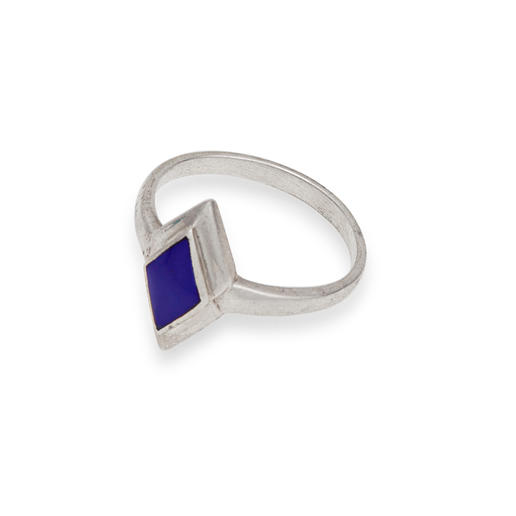gundara silver ring lapislazuli fair trade