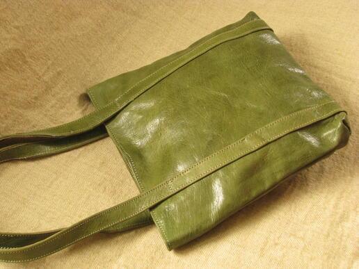 Gundara - Missy Simple Africa - genuine leather - shopping bag - green - Burkina Faso