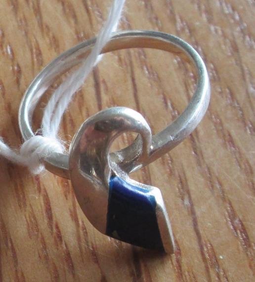 Lapislazuli silver ring - Afghanistan - cooperative - Gundara