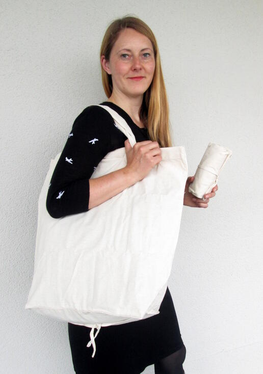 nice white cotton shopping bag - Gundara