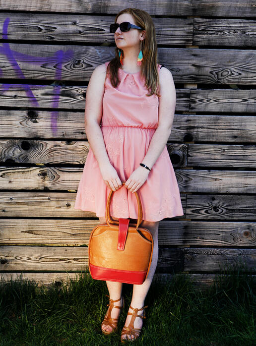 Ninie sac à main nature et rouge - photo Ulrika Walmark