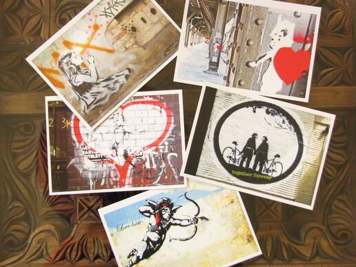 Annblick - Postkarten - Berliner Straßenkunst - Graffiti - Fotopostkarten