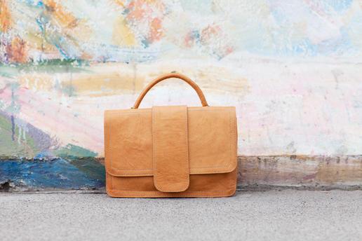 petit sac à main en cuir véritable - Gundara