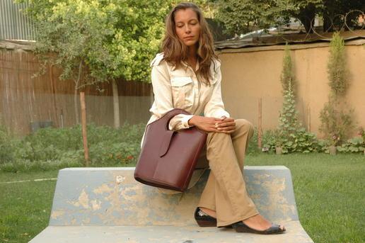 sac à main en cuir véritable marron - Gundara