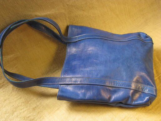 sac en cuir bleu missy simple