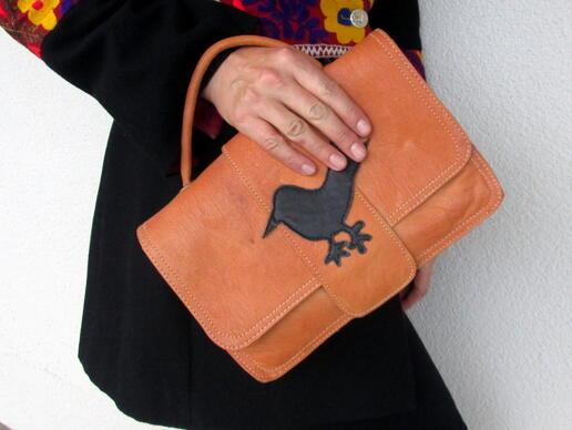 sac vintage motif oiseau