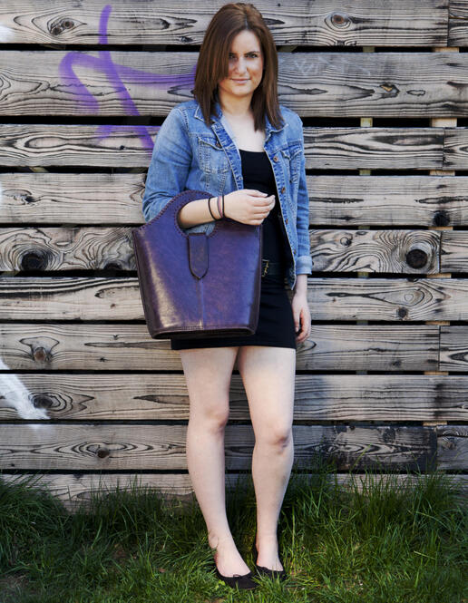 Violetta leather shopping bag - Photo Ulrika Walmark