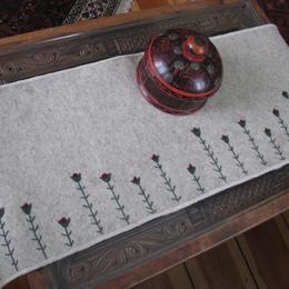Funky Tulip Felt Table Runner - Afghan felt table runner - Embroidery