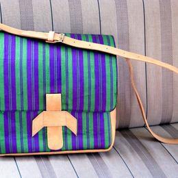 Gundara - Laptop-Tasche Chopan - lila-grüne Schultertasche