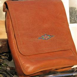 Gundara leather bag with an embroidery - shoulder bag - real leather