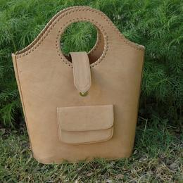 Gundara - Nature Shopper - Sac de courses élégant en cuir naturel