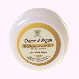 Organic argan oil facial cream for dry skins
