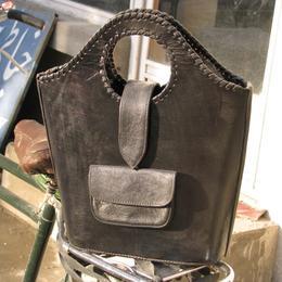 Gundara - Black Shopper - sac en cuir peint à la main