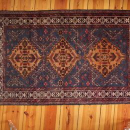 blue Herati Adrskani Baluch rug - Gundara