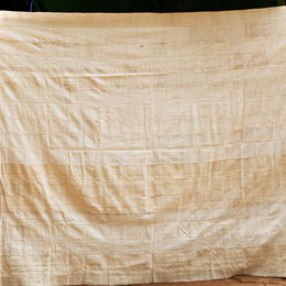 cotton plaid - bed cover - handwoven - from Burkina Faso