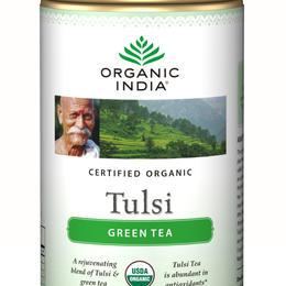 mélange tulsi thé vert en boite de 100g