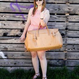 Grand sac de voyage en cuir - photo Ulrika Walmark